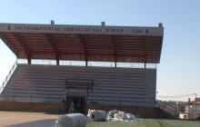 Presentación de los últimos trabajos en el campo de fútbol Arroyo de San Serván.