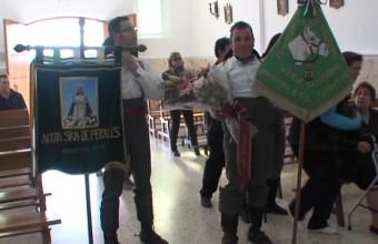 OFRENDA FLORAL DE LA  PEÑA DEL CABALLO A LA VIRGEN DE PERALES EN 2013.