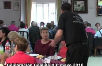 COMIDA DE FERIA DE MAYO 2016 EN EL HOGAR DEL PENSIONISTA DE ARROYO DE SAN SERVÁN.