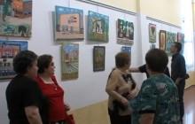 EXPOSICIÓN  DE CUADROS DE ANTONINO GÓNZALEZ EN LA CASA DE LA CULTURA .