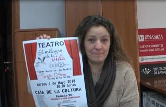 PRESENTACIÓN DE LA OBRA DE TEATRO EL MILAGRO DE LA VIDA  A CARGO DE ANABEL UNA DE LAS ACTRICES DE LA OBRA  PARA EL 1 DE MAYO 2018.